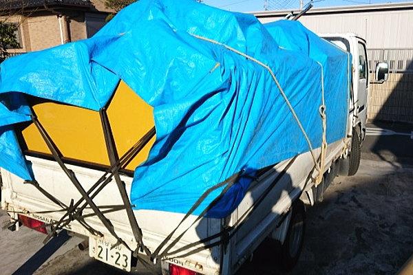 吉見町で農機具の回収