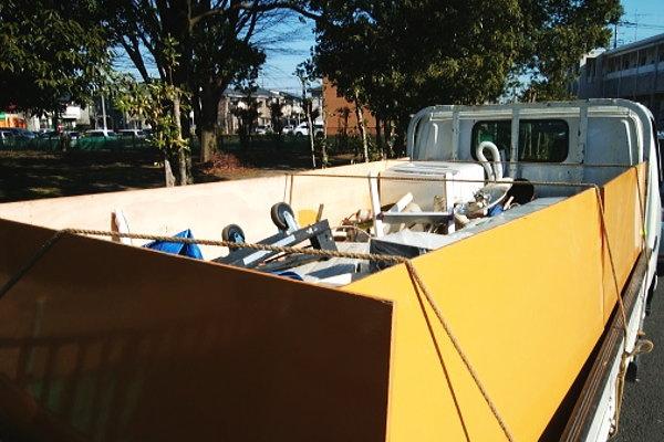 行田市エアコンや照明、庭の物置の解体の片付け