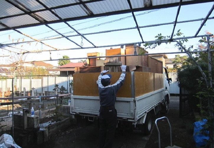 行田市平屋一軒家トラック積み込み