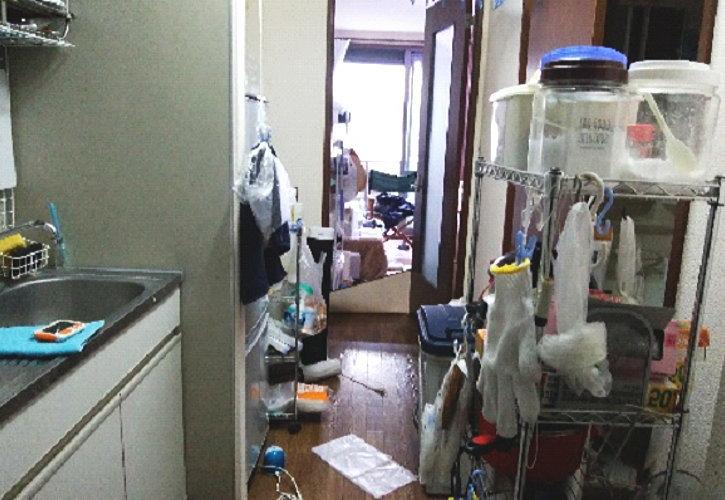 久喜市不用品回収現場