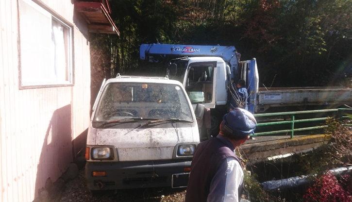 秩父市で廃車回収