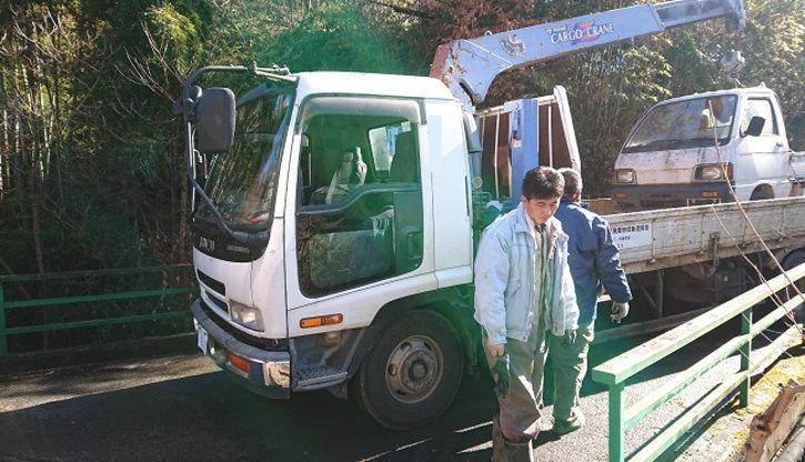 秩父市 廃車回収作業完了