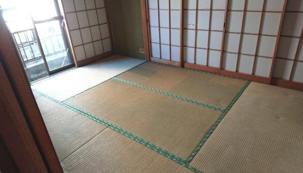 畳の部屋もきれいに片づけました
