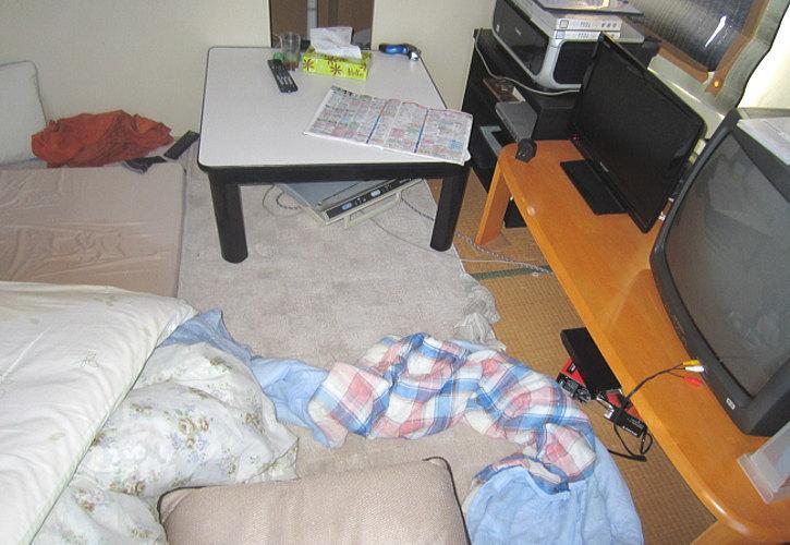 寝床の別角度